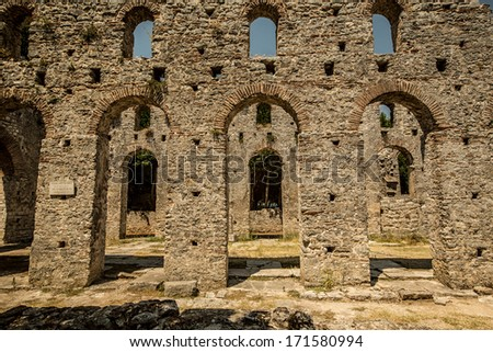 Butrint  in Albania was one of the biggest roman settlements in Balkan region - stock photo