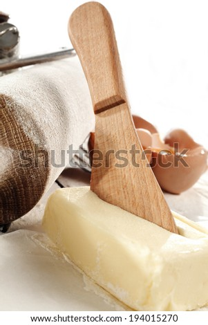butter and white space  - stock photo