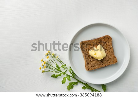 Butter Bread for breakfast - stock photo