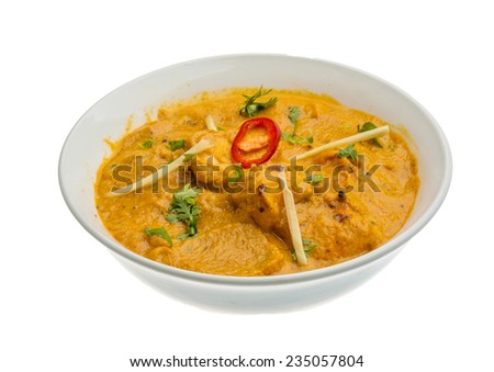 Butter chicken - indian traditional cuisine - stock photo