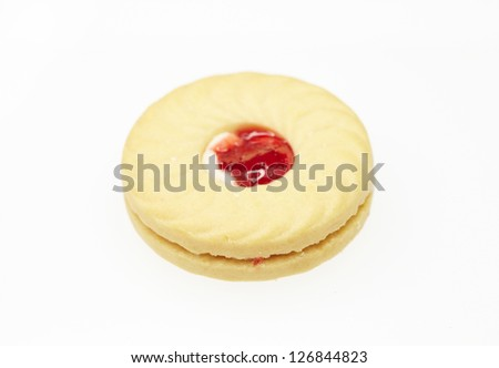 Butter cookie with jelly center