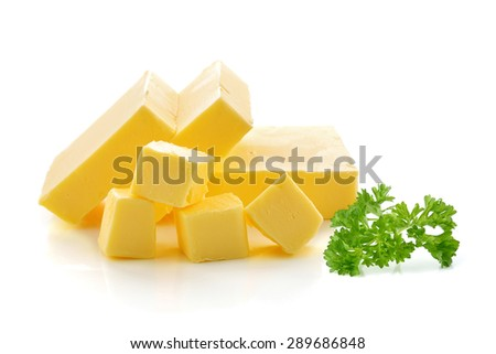 butter isolated on white background. - stock photo