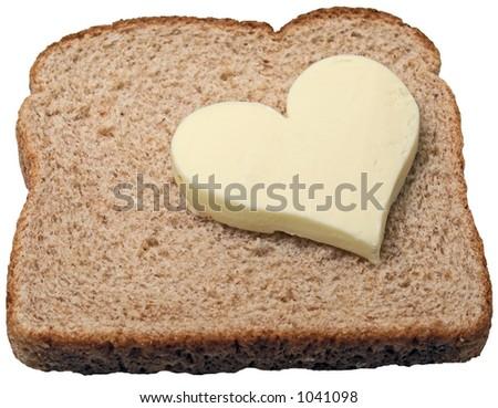 Butter loves bread - stock photo