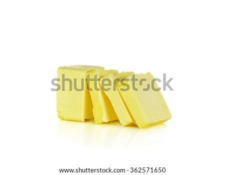 butter on white background. - stock photo