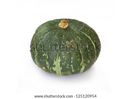 Buttercup Squash isolated on white Background - stock photo