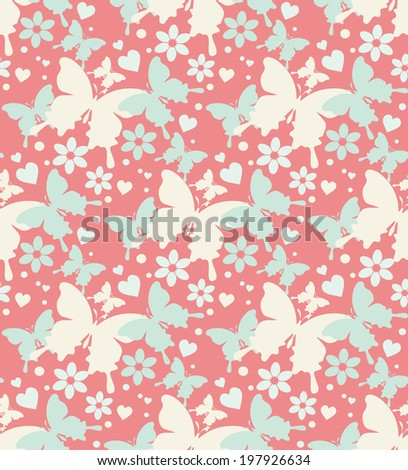 butterflies abstract background seamless pattern