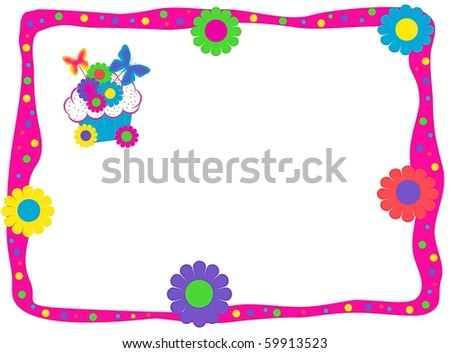 Butterfly Bright Cupcake Text Box