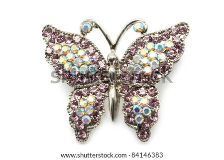 Butterfly brooch - stock photo