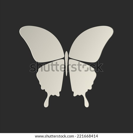 Butterfly conceptual icon. Logo - stock photo