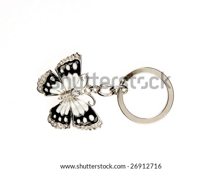 butterfly key-ring - stock photo