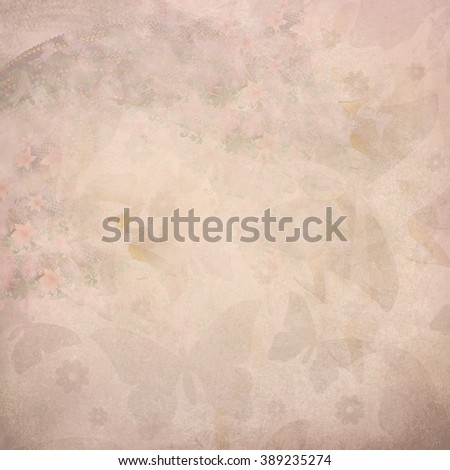 butterfly pink pattern - stock photo