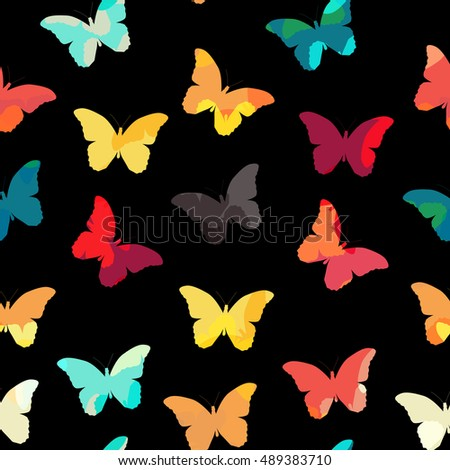 Butterfly Seamless Simple Pattern Background Illustration