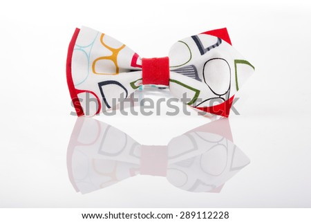 butterfly tie with an abstract pattern - stock photo