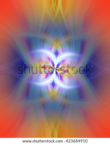 Butterfly twist twirl spin fun pressed yellow blue red orange green purple violet multicolored background backdrop cool scientific  - stock photo