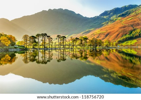 Buttermere early morning walk. - stock photo
