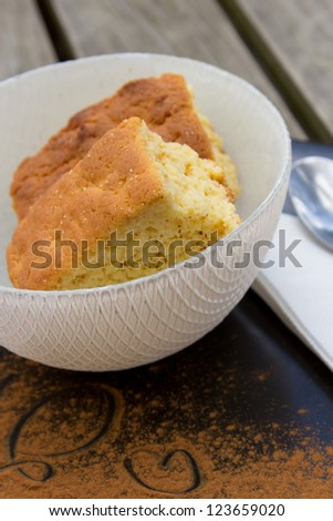 Buttermilk rusks in a bowl on a table