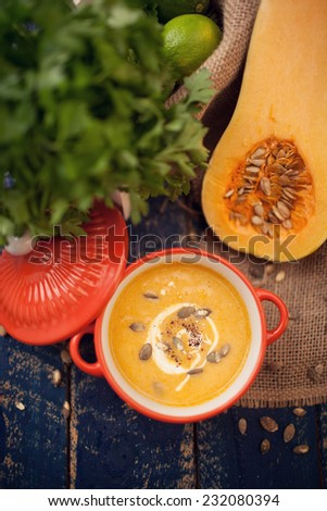 Butternut Squash Soup - stock photo
