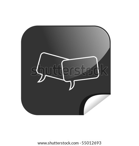 button chat - stock photo