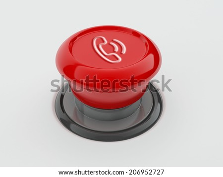 Button Contact Icon isolated on white
