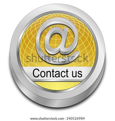 Button contact us - stock photo