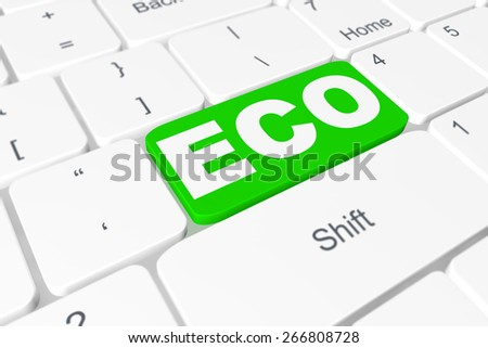 "Button ""ECO"" on keyboard"