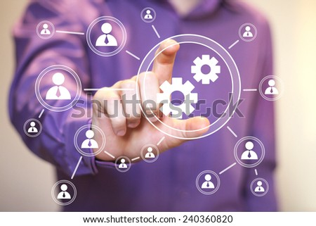 Button engineering business web icon communication sign - stock photo