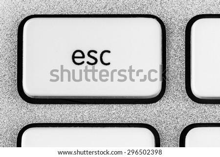 Button Esc - stock photo