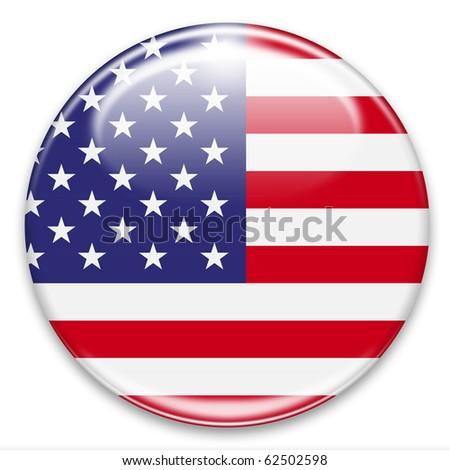 Button Fahne Flagge USA Vereinigte Staaten von Amerika - stock photo