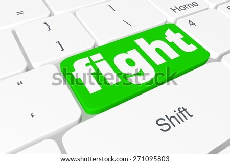 "Button ""fight"" on keyboard"