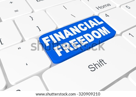 "Button ""financial freedom"" on keyboard"