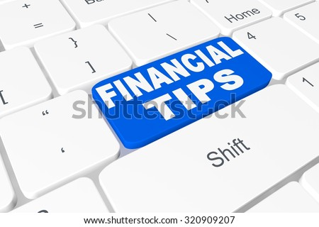 "Button ""financial tips"" on keyboard"