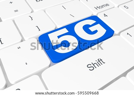 "Button ""5G"" on 3D keyboard"