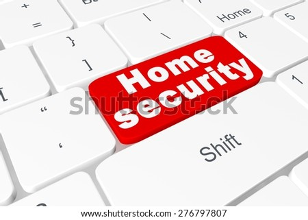 "Button ""Home security"" on keyboard"