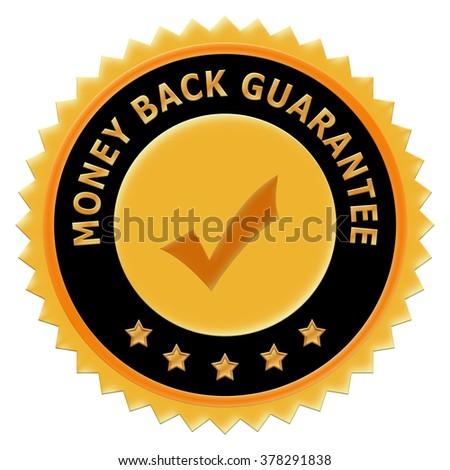 button Money back Guarantee - stock photo