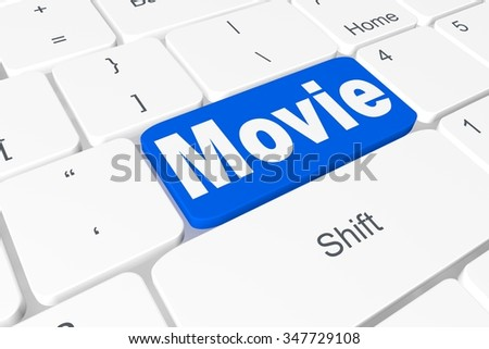 "Button ""movie"" on keyboard"