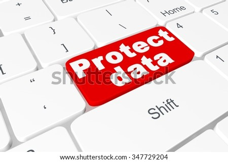 "Button ""Protect data"" on keyboard"