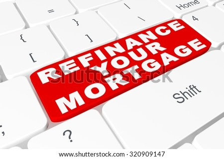 "Button ""refinance your mortgage"" on keyboard"