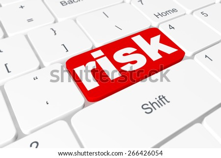"Button ""risk"" on keyboard - stock photo"