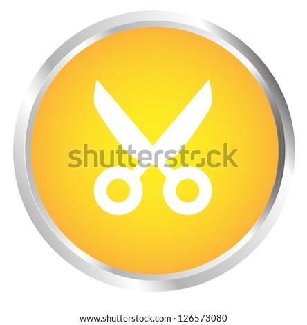 Button Shears - stock photo