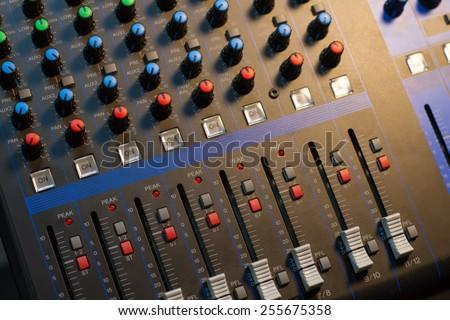 button sound control sound mixer - stock photo