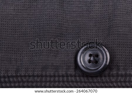 Button suit jacket.