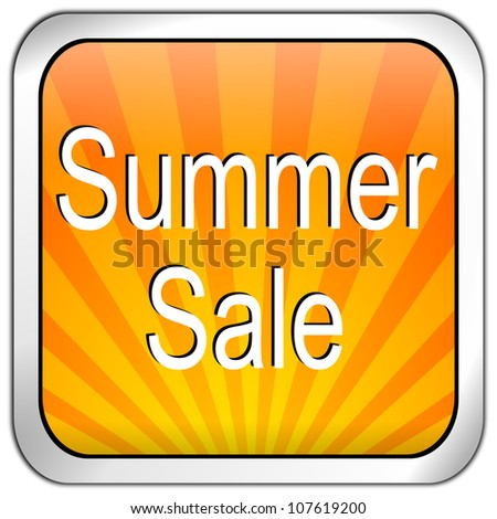 Button summer sale - stock photo