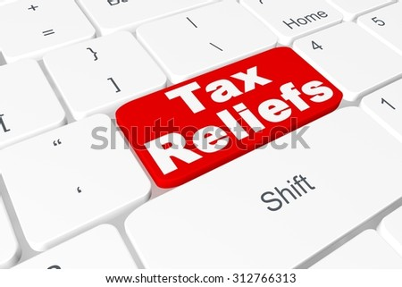 "Button ""Tax reliefs"" on keyboard"