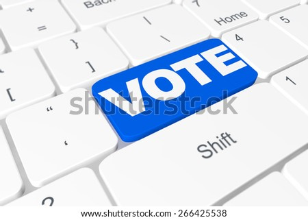 "Button ""Vote"" on keyboard - stock photo"