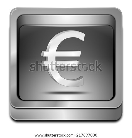 Button with Euro sign