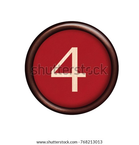button with numbering series 4 four