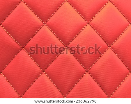 Buttoned on the red Texture. Repeat pattern. Vintage - stock photo