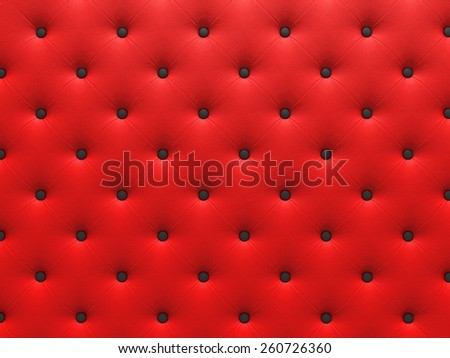 Buttoned red Texture. Repeat pattern. render 3D - stock photo