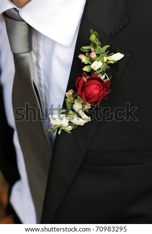 Buttonhole groom - stock photo