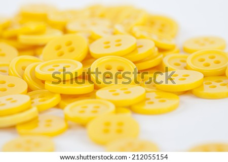 buttons isolated on white background - stock photo
